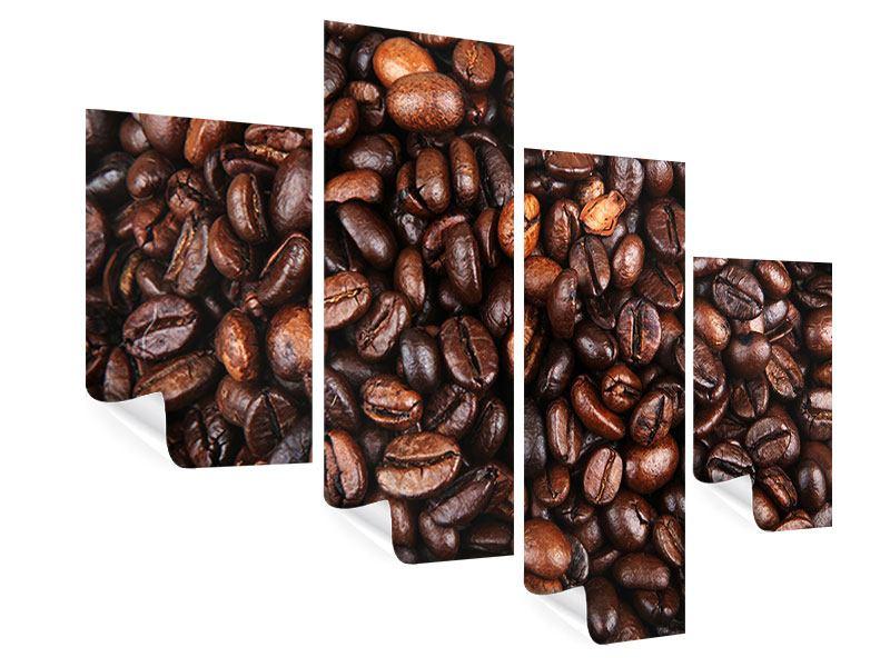 Poster 4-teilig modern Kaffeebohnen in XXL