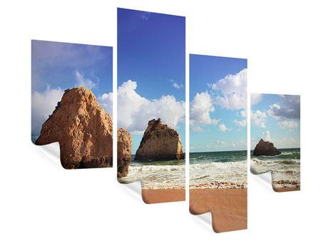 Poster 4-teilig modern Strandgedanken