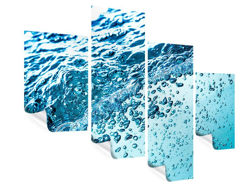 Poster 4-teilig modern Wasser in Bewegung