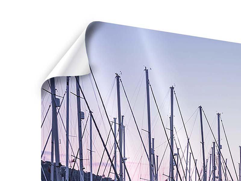 Poster 4-teilig modern Yachthafen