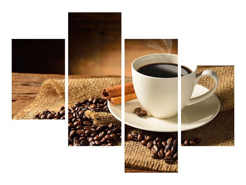 Poster 4-teilig modern Kaffeepause