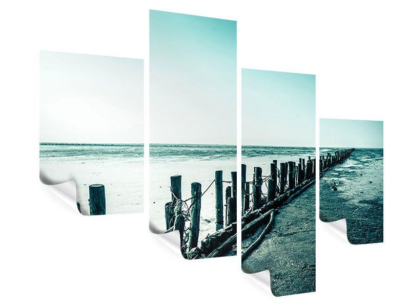 Poster 4-teilig modern Das Wattenmeer