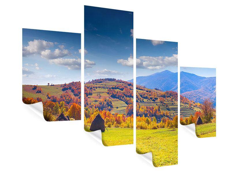 Poster 4-teilig modern Herbstliche Berglandschaft