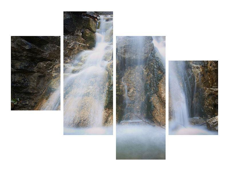Poster 4-teilig modern Imposanter Wasserfall
