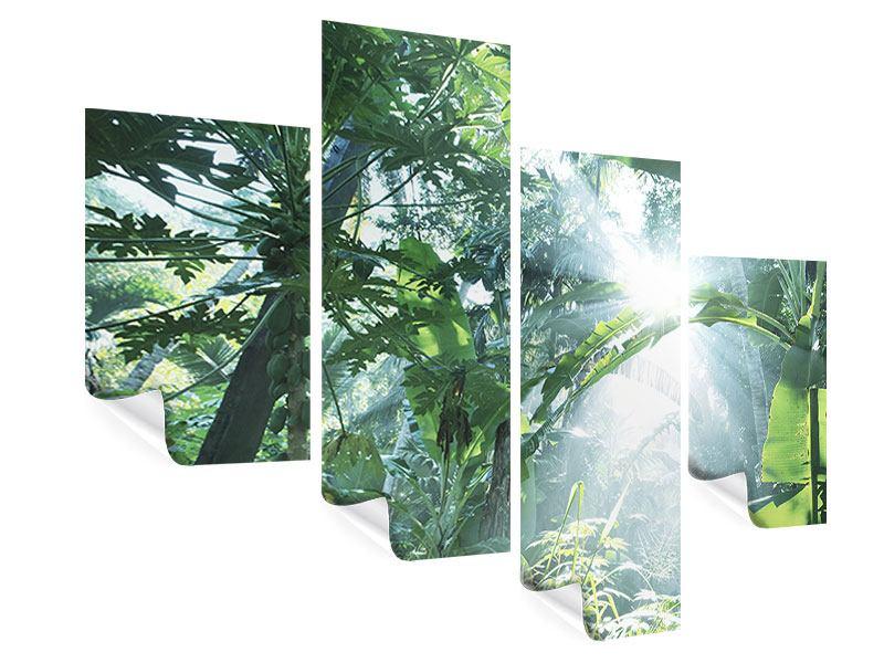 Poster 4-teilig modern Dschungelstar