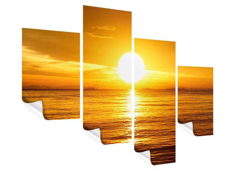 Poster 4-teilig modern Traumhafter Sonnenuntergang