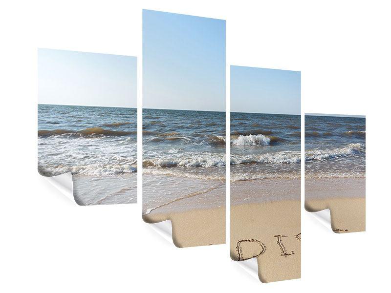 Poster 4-teilig modern Sandspuren