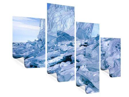 Poster 4-teilig modern Eislandschaft Baikalsee