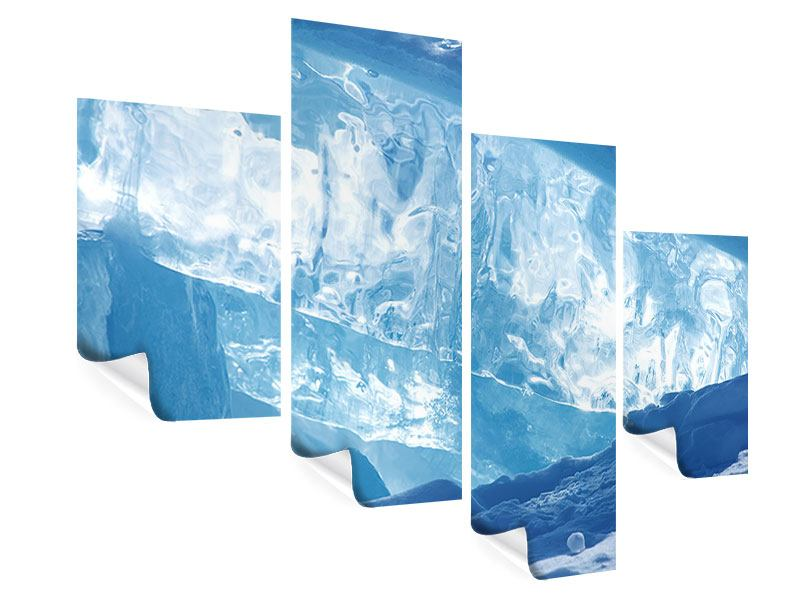 Poster 4-teilig modern Baikalsee-Eis