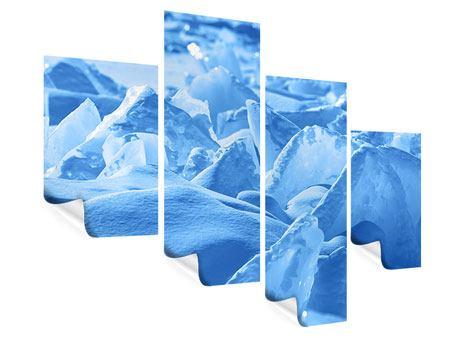 Poster 4-teilig modern Eis des Baikalsees