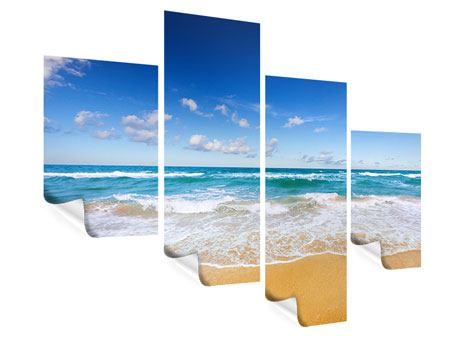 Poster 4-teilig modern Die Gezeiten und das Meer