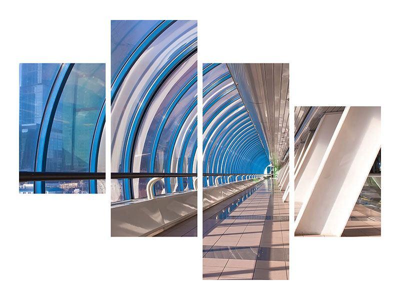 Poster 4-teilig modern Hypermoderne Brücke