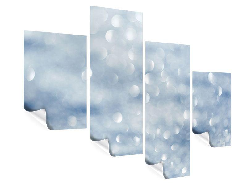Poster 4-teilig modern Kristallglanz