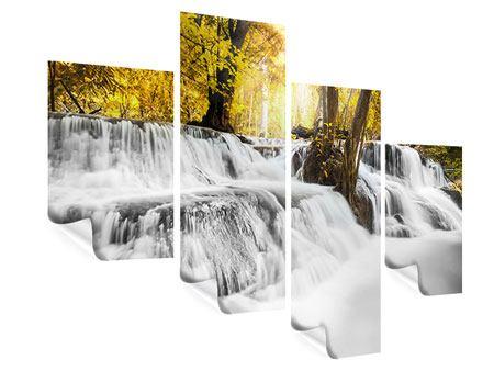 Poster 4-teilig modern Wasser in Aktion