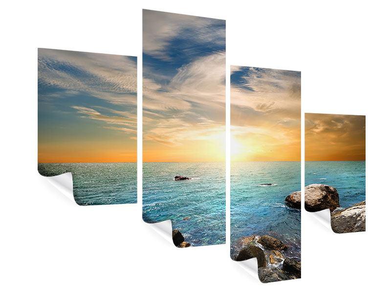 Poster 4-teilig modern Meerwasser