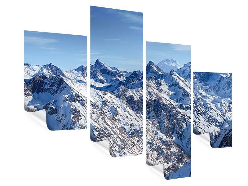 Poster 4-teilig modern Gipfelspitzen