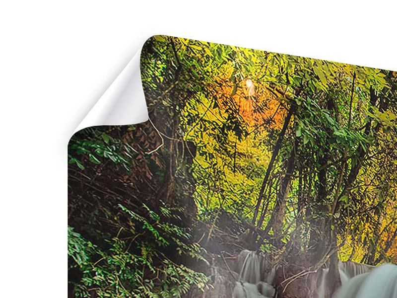 Poster 4-teilig modern Fallendes Gewässer