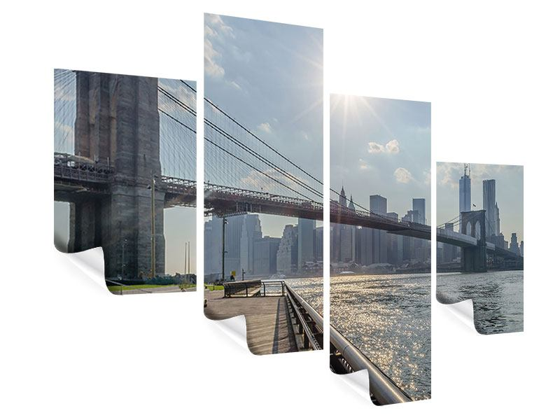 Poster 4-teilig modern Brooklyn Bridge