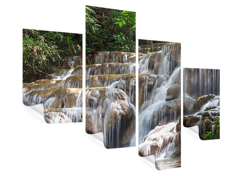Poster 4-teilig modern Mexikanischer Wasserfall