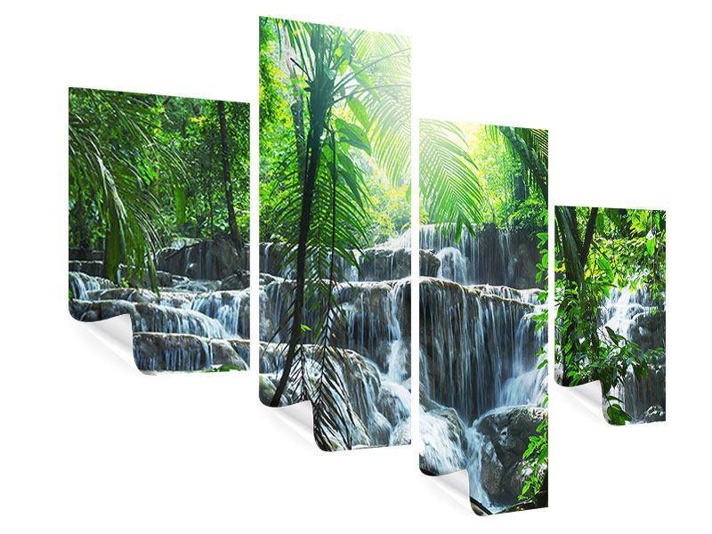 Poster 4-teilig modern Wasserfall Agua Azul