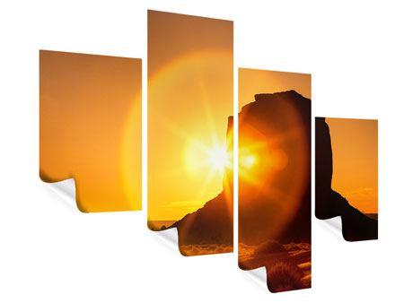 Poster 4-teilig modern Sonnenuntergang Monument Valley