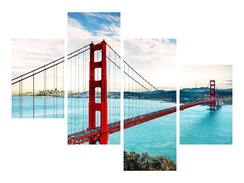 Poster 4-teilig modern Golden Gate Bridge