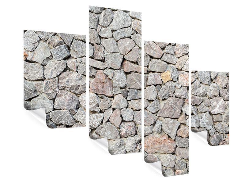 Poster 4-teilig modern Grunge-Stil Mauer