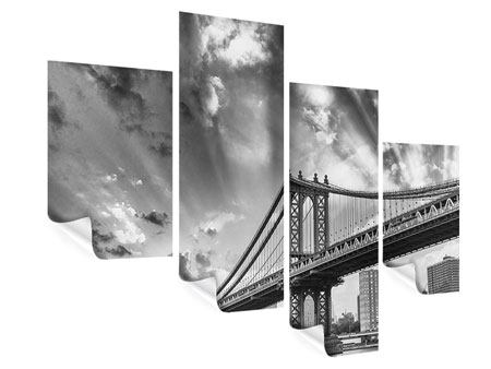 Poster 4-teilig modern Manhattan Bridge