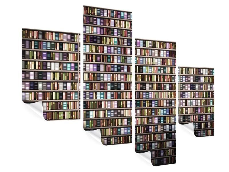 Poster 4-teilig modern Bücherregal