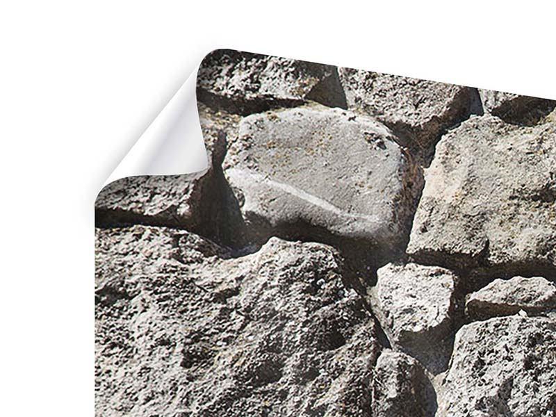 Poster 4-teilig modern Grosses Mauerwerk