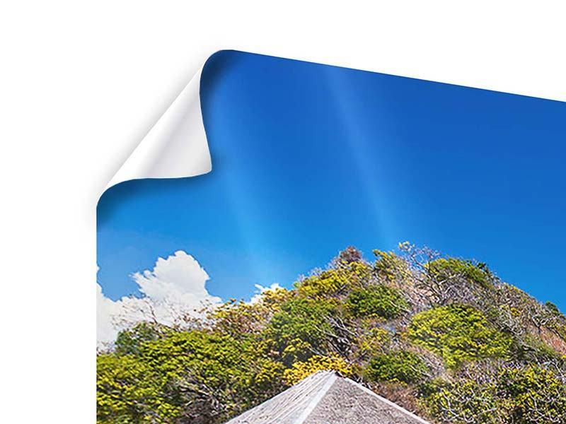 Poster 4-teilig modern Das Haus am Strand
