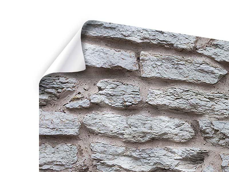 Poster 4-teilig Steinmauer