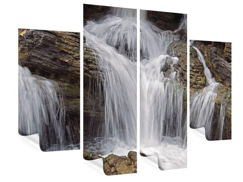 Poster 4-teilig Wasserfall XXL