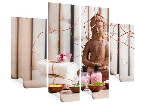 Poster 4-teilig Buddha + Wellness