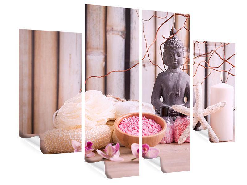 Poster 4-teilig Spa + Buddha