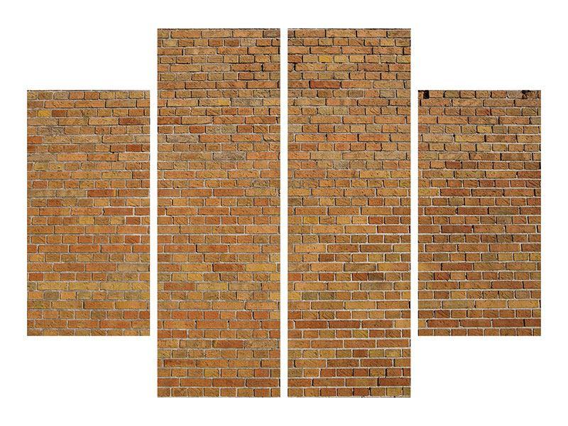 Poster 4-teilig Backsteinhintergrund
