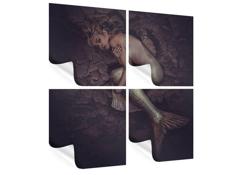 Poster 4-teilig Meerjungfrau