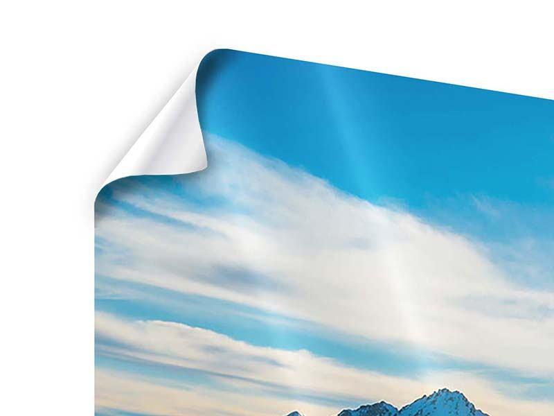 Poster 4-teilig Ein Wintermärchen in den Bergen