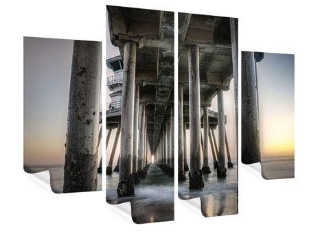 Poster 4-teilig Brückenpfeiler
