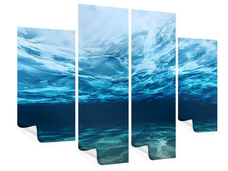 Poster 4-teilig Lichtspiegelungen unter Wasser