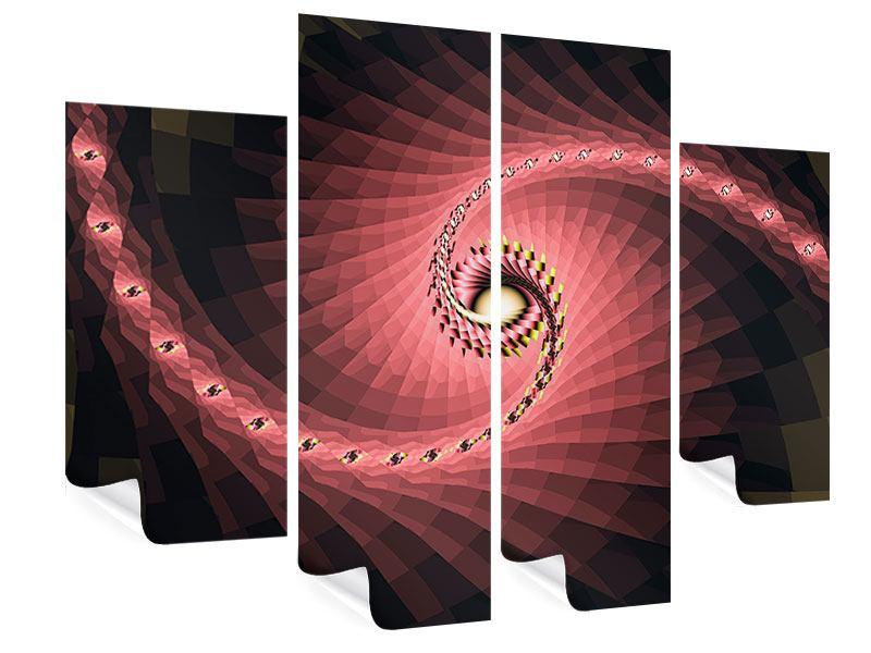 Poster 4-teilig Abstrakte Windungen