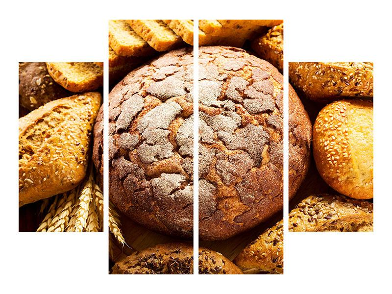 Poster 4-teilig Brotsortiment