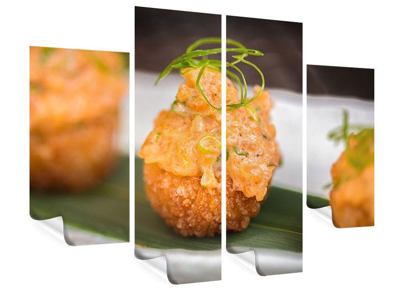 Poster 4-teilig Asiatische Küche