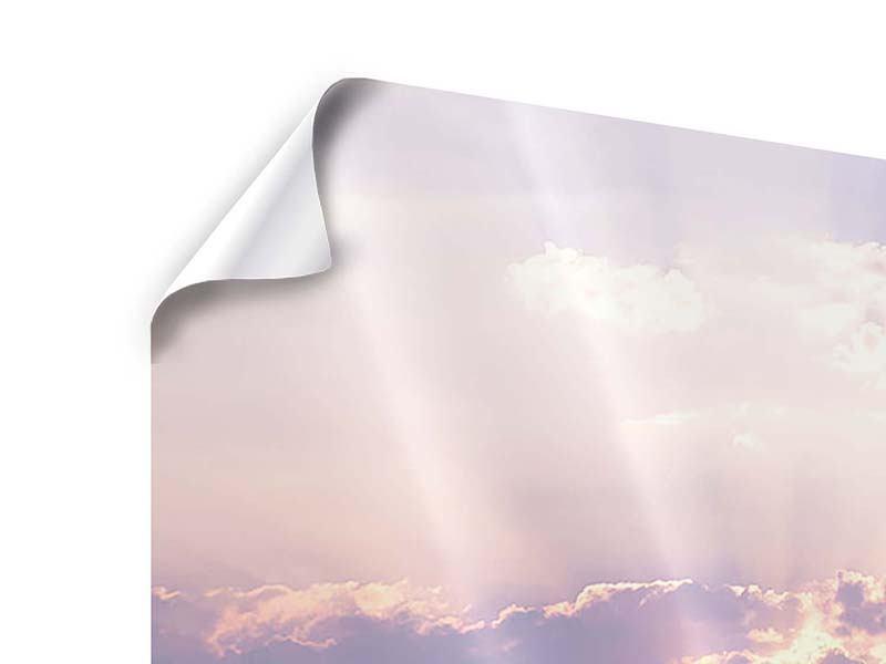 Poster 4-teilig Sonnenaufgang am Meer