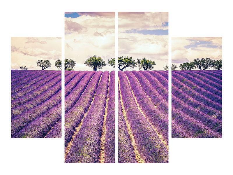 Poster 4-teilig Das Lavendelfeld