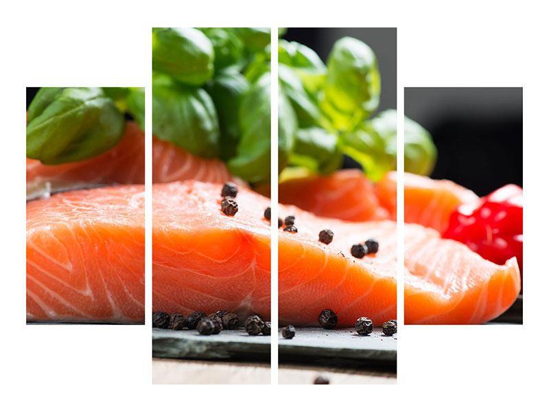 Poster 4-teilig Frischer Fisch
