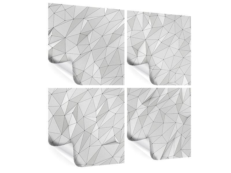Poster 4-teilig 3D-Geo
