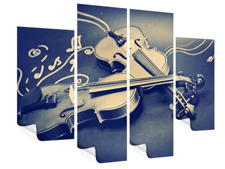 Poster 4-teilig Geigen