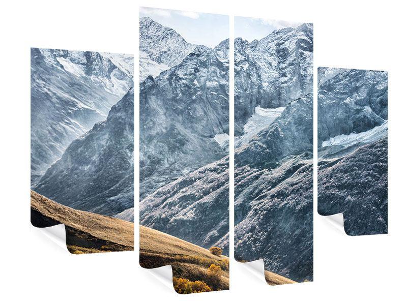 Poster 4-teilig Gigantische Berggipfel