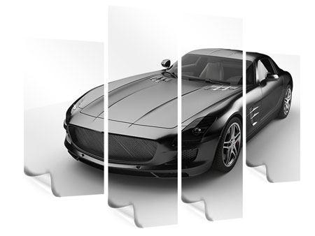 Poster 4-teilig 007 Auto